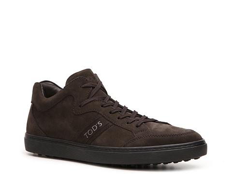 Pantofi Tods - Tods Suede Logo Sneaker - Chocolate Brown