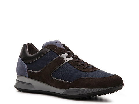 Pantofi Tods - Tods Nylon & Suede Sneaker - Blue/Navy Blue/Brown
