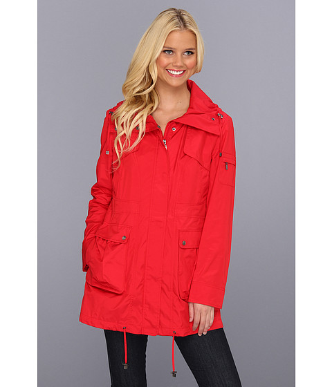 Jachete Cole Haan - Packable 4-Pocket Travel Jacket w/ Hood - Red