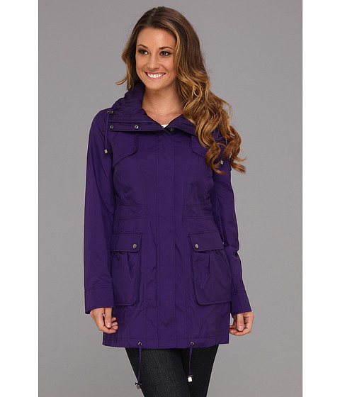 Jachete Cole Haan - Packable 4-Pocket Travel Jacket w/ Hood - Purple