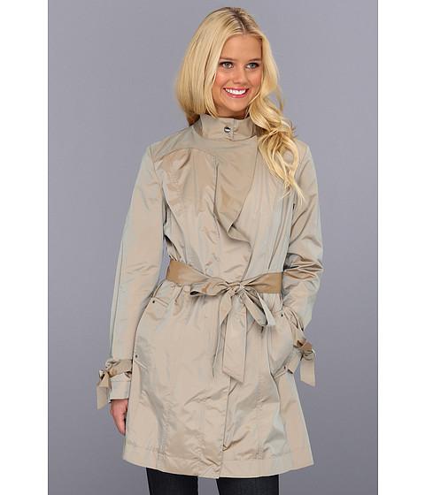 Jachete Cole Haan - Packable Draped Travel Jacket w/ Sash Belt - Topaz