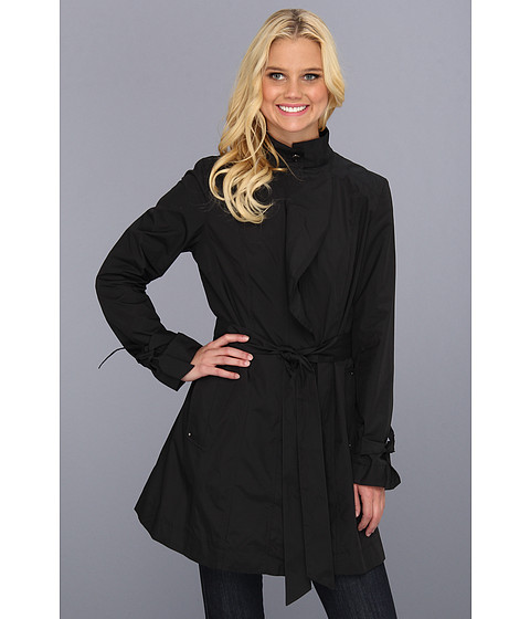 Jachete Cole Haan - Packable Draped Travel Jacket w/ Sash Belt - Black