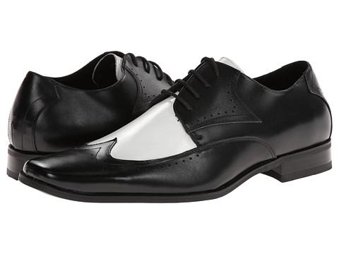 Pantofi Stacy Adams - Atticus - Black And White Leather