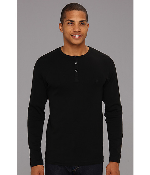 Bluze French Connection - L/S Crew Henley - Black