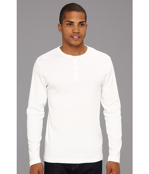 Bluze French Connection - L/S Crew Henley - White