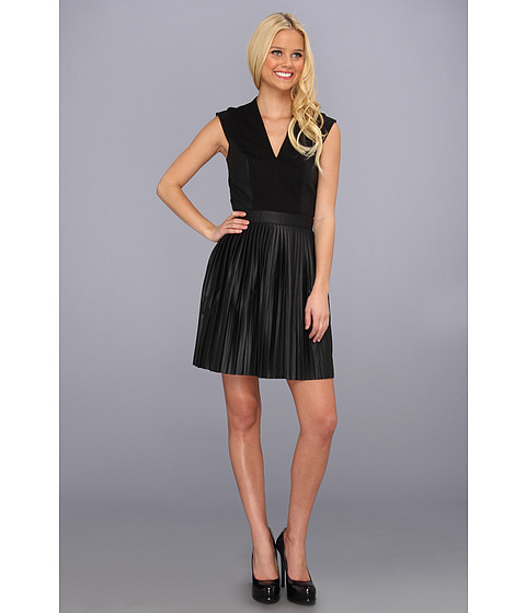 Rochii French Connection - Solar Pleating Dress - Black