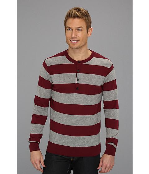Bluze DKNY - Long Sleeve Stripe Henley Sweater - Twny Port