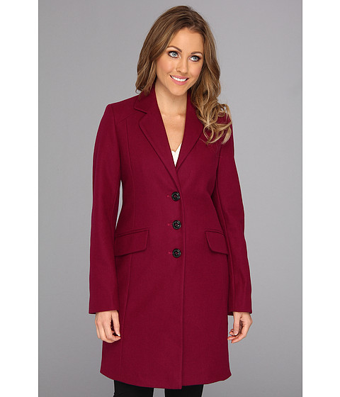Jachete DKNY - Single Breasted Notched Lapel Coat - Potion