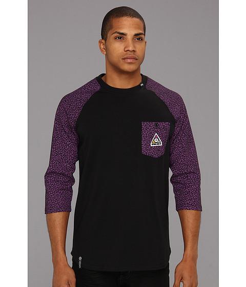 Tricouri L-R-G - Color of the Season Raglan 3/4 Sleeve Baseball Tee - Black