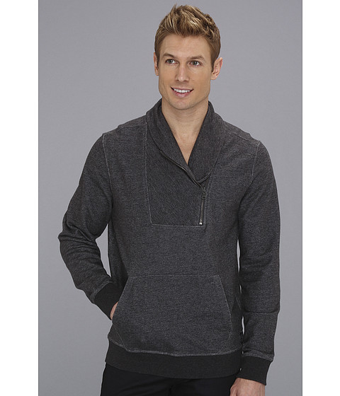Tricouri Calvin Klein - L/S Half Zip Shawl Collar Hoodie - Dark Charcoal Heather