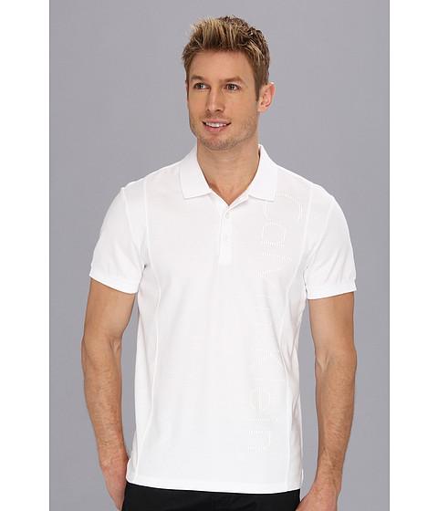 Tricouri Calvin Klein - S/S 3 Button 30s/1 Pique/2x2 Rib Polo - White