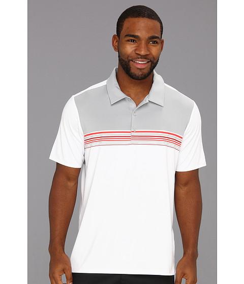 Tricouri adidas - Adizero Climacoolî Engineered Stripe Polo - White/Chrome