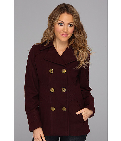 Jachete Kenneth Cole - Double Breasted Button Front Peacoat w/Notch Collar - Concord