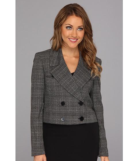 Jachete Nine West - Plaid Double Breasted Jacket - Black Multi