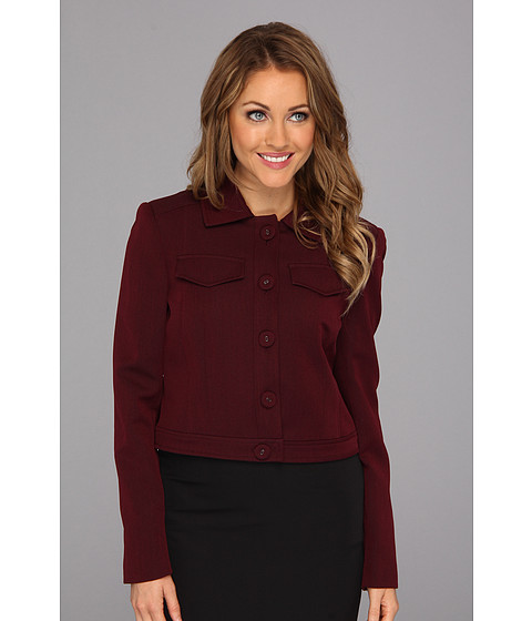 Jachete Nine West - Twill Five-Button Jacket - Bordeaux