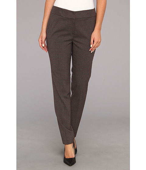 Pantaloni Nine West - Mini Plaid Pant - Bordeaux Multi