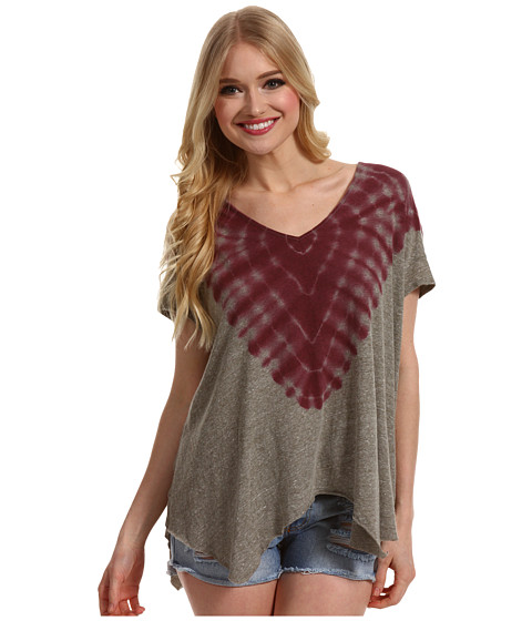 Tricouri Free People - Double Team Tee - Fatigue/Berry Combo