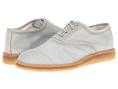 Pantofi Marc Jacobs - Textured Lace Up Oxford - White/Grey