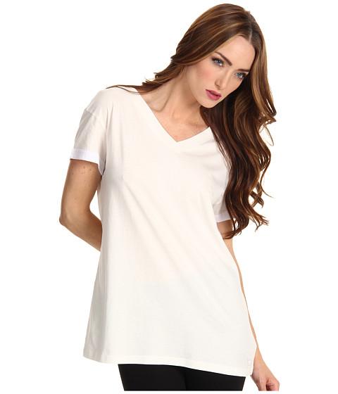 Tricouri adidas - Lite Jersey V-Neck Tee - RunWhite