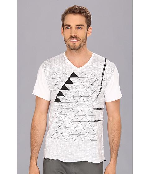 Tricouri Calvin Klein - SS Favela V-Neck Tee - White