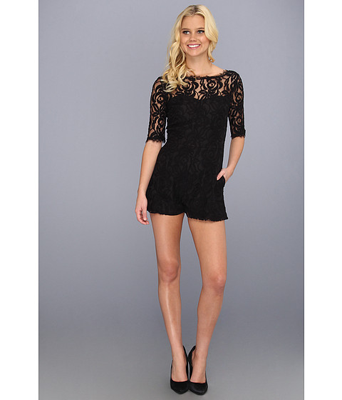 Pantaloni BCBGeneration - Lace Romper - Black