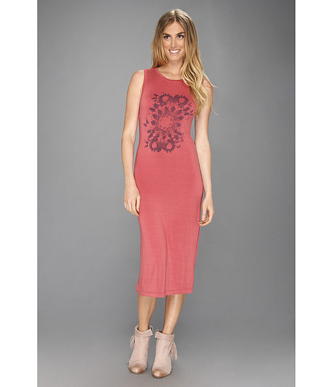 Rochii Free People - Love From London Dress - Mineral Red Combo