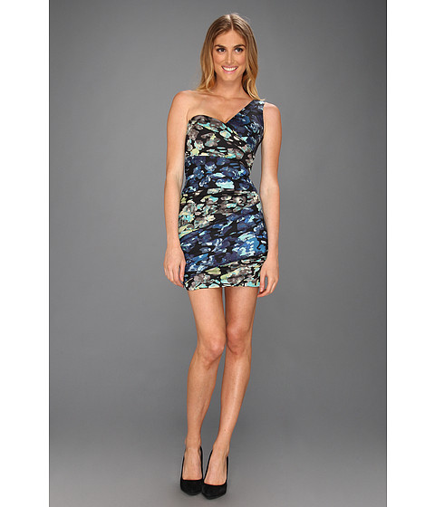 Rochii BCBGMAXAZRIA - Paige Woven Evening Dress - Carbon Combo