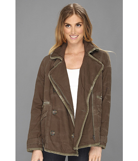 Jachete Free People - Tipped Canvas Car Coat - Olive