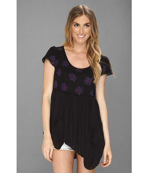 Tricouri Free People - Shake Your Dandelion Top - Black Combo