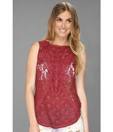 Tricouri Free People - Not So Sweet Victorian Top - Cranberry