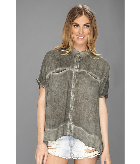 Camasi Free People - Boxy Woven Shirt - Camo