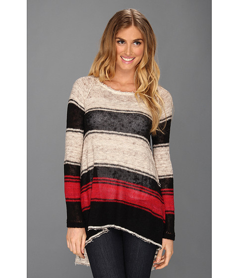 Bluze Free People - Block Of Stripes Pullover - Natural Combo