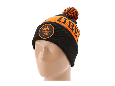 Sepci Obey - Crowned Pom Pom Beanie - Black/Orange