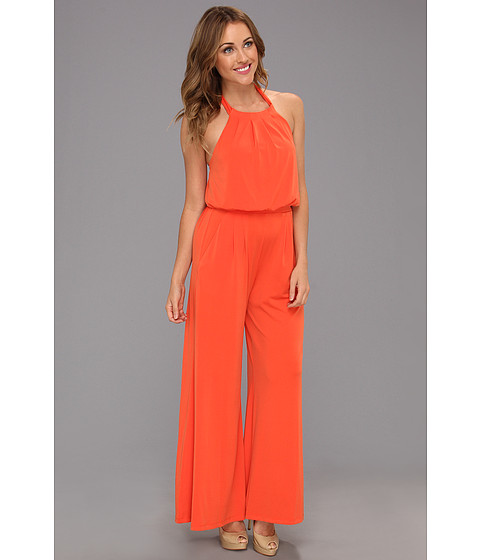 Pantaloni Vince Camuto - Jumpsuit w/ Self-Fabric Tie At Neck - Spicy Orange