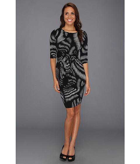 Rochii Karen Kane - High Contrast Knotted Dress - Print
