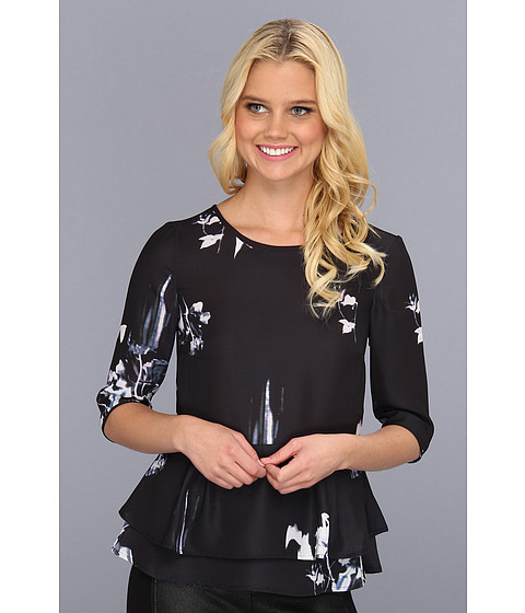 Bluze French Connection - Water Flower Drape 72ABC - Black