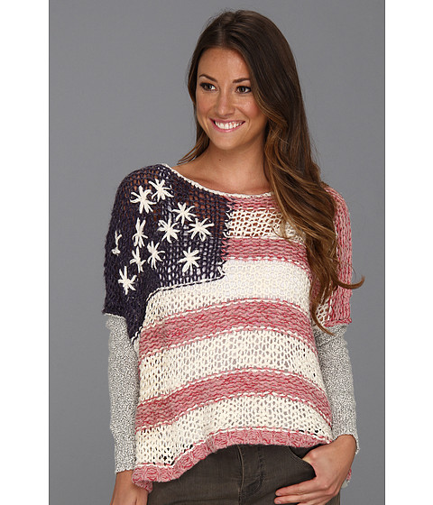 Bluze Free People - Flag Sweater - Red White And Blue