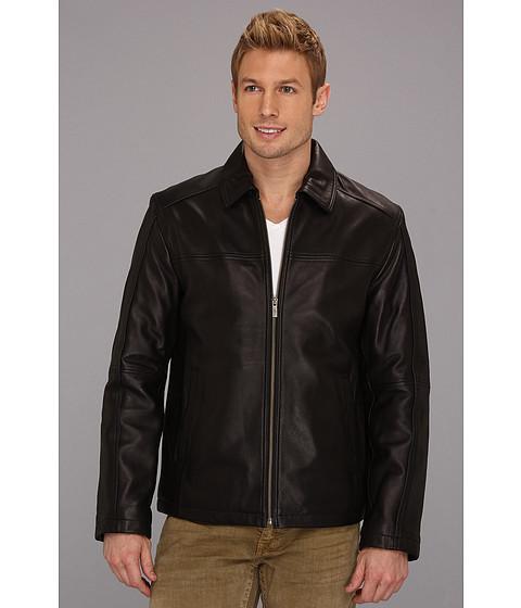 Jachete Cole Haan - Shirt Collar Smooth Lamb Jacket - Black