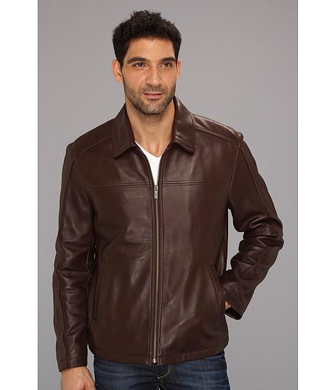 Jachete Cole Haan - Shirt Collar Smooth Lamb Jacket - Chocolate
