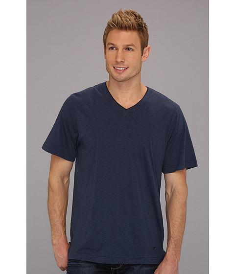 Tricouri Tommy Bahama - S/S V-Neck Cotton Modal Knit T-Shirt - Navy Heather