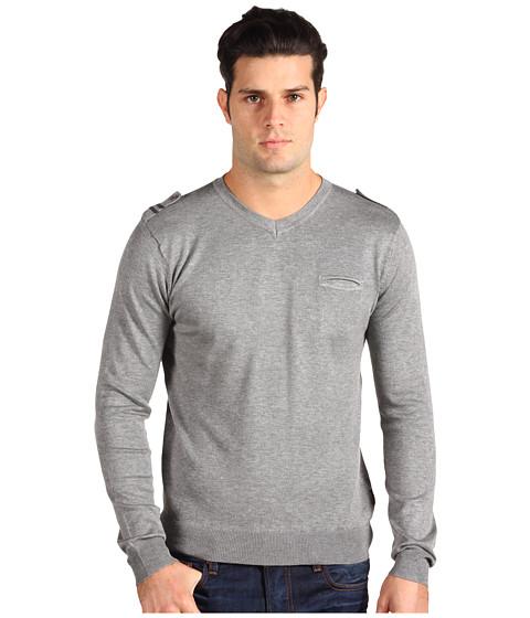 Pulovere Fresh Brand - L/S V-Neck Sweater - Grey