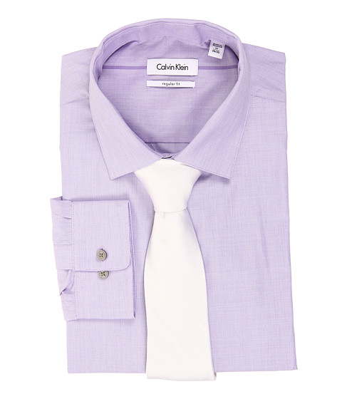 Camasi Calvin Klein - L/S Regular Fit Shirt - Violet