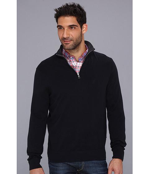 Bluze Nautica - 12-Gauge Cotton 1/4-Zip Sweater - Class Navy