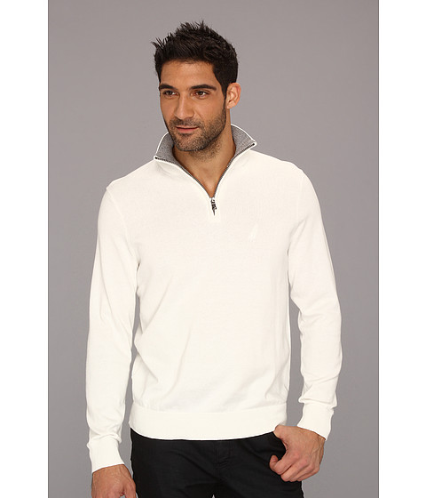 Bluze Nautica - 12-Gauge Cotton 1/4-Zip Sweater - Marshmallow