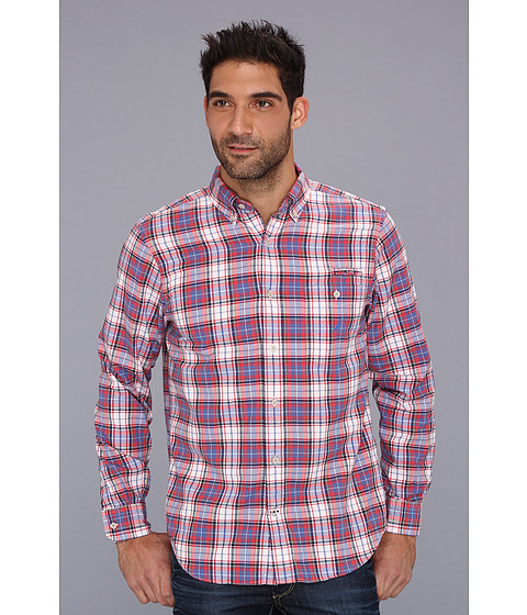 Bluze Nautica - Large Plaid Oxford Shirt - Cardinal