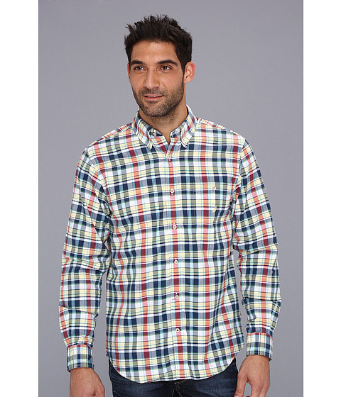 Bluze Nautica - Oxford Large Plaid L/S Shirt - Shoreline Yellow