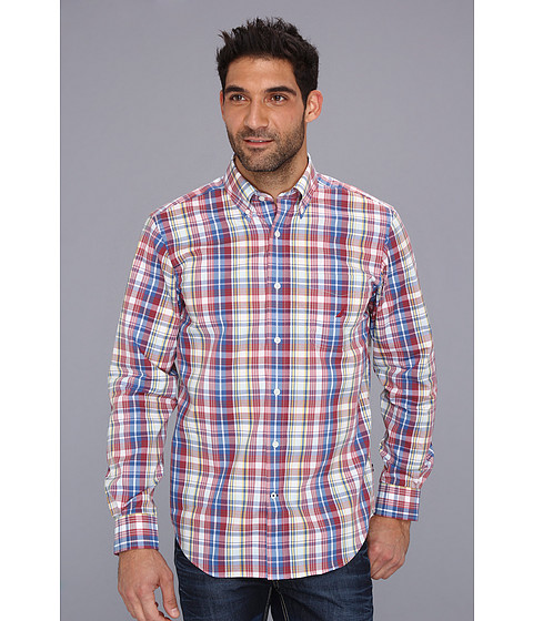 Bluze Nautica - Wrinkle Resistant Poplin Plaid L/S Shirt - Shore Rose