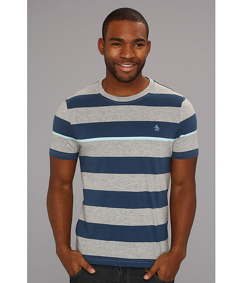Tricouri Original Penguin - Barstripe Tee w/ Pop Stripe - Rain Heather