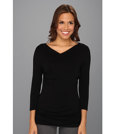 Bluze Vince Camuto - 3/4 Sleeve High Wrap Top - Rich Black