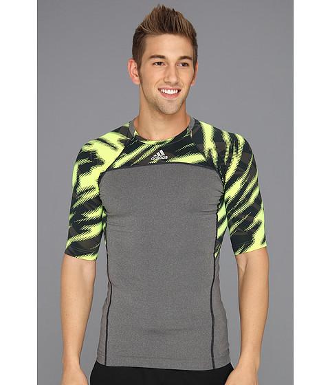 Tricouri adidas - Techfit Compression Short-Sleeve Tee Impact Sting Camo - Dark Grey Heather/Electricity/Dark Onix/Night Shade